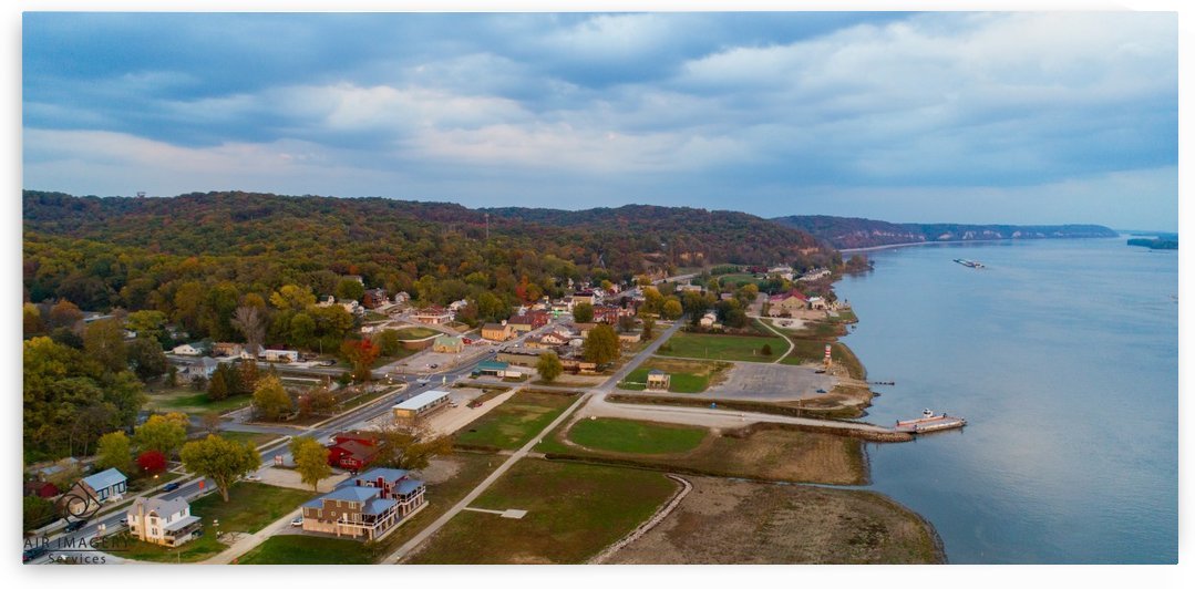 Grafton, IL City by Jordan Williams of Air Imagery Services