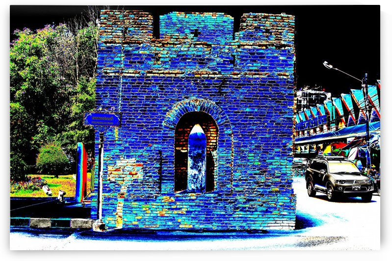 Gate End section of old city wall. by Alan Skau