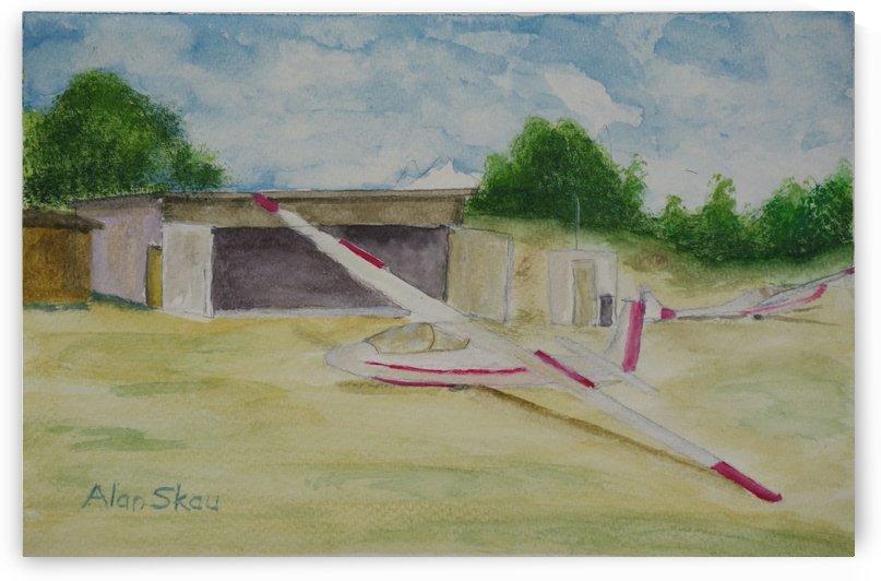 Gliders- Lake Taupo N.Z. by Alan Skau