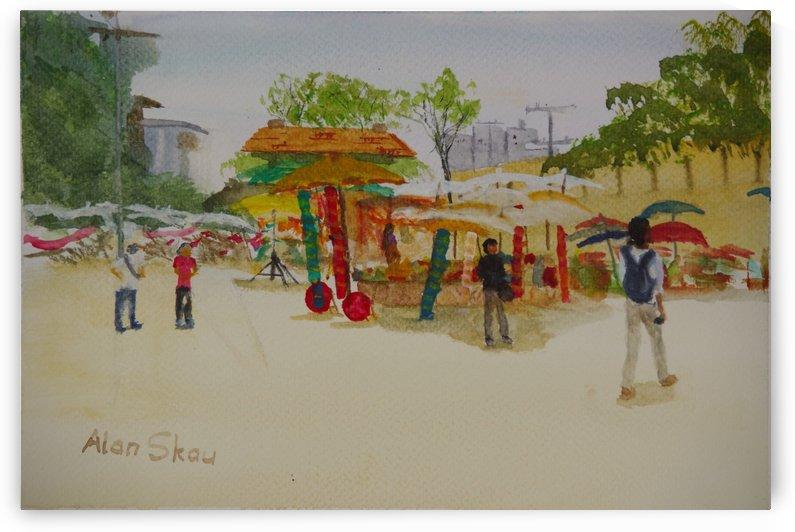 Market Thaphae Gate. by Alan Skau