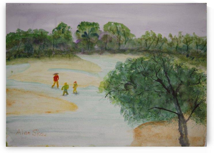 Sandy Inlet. by Alan Skau