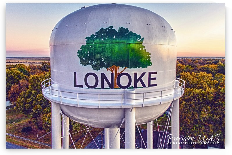 Lonoke AR | Painted Water Tower 2017 by Provision UAS