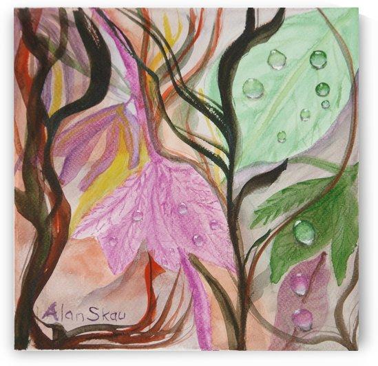 Dewdrops on Leaves.    by Alan Skau