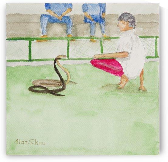 Snake Handler Thailand. by Alan Skau