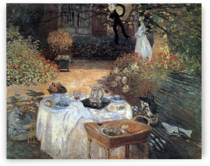 The lunch #2 by Monet by Monet