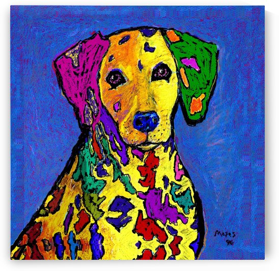 RAINBOW DALMATION  by Moses