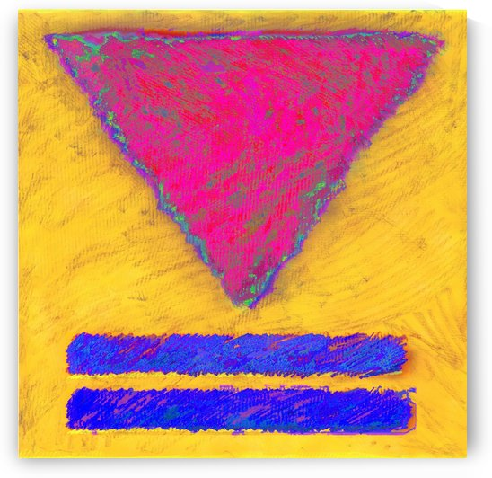 INVERTED PINK TRIANGLE by Moses