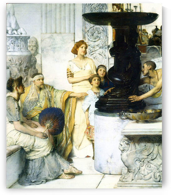 The Sculpture Gallery detail by Alma-Tadema by Alma-Tadema