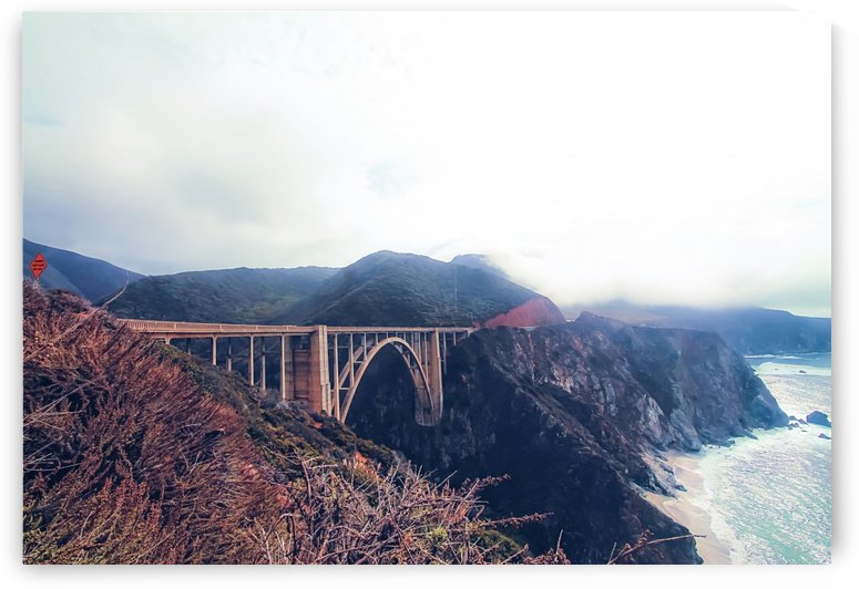 beautiful landscape at Bixby bridge, Big Sur, California, USA  by TimmyLA