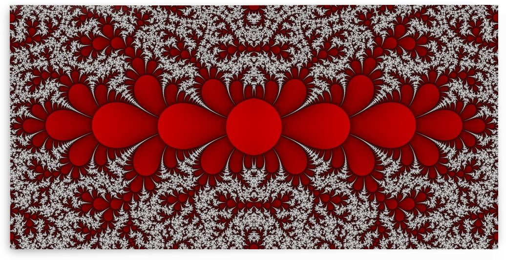 Red cactuse fractal by CiddiBiri