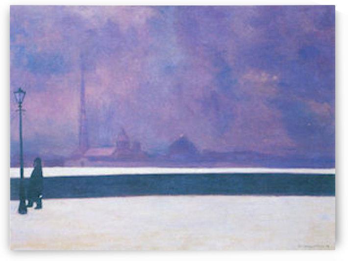 The night in light fog by Felix Vallotton by Felix Vallotton