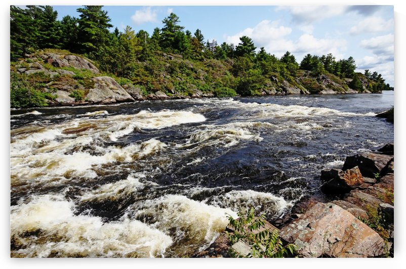 Dalles Rapids French River  by Deb Oppermann