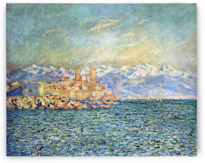 The old Fort in Antibes by Monet by Monet