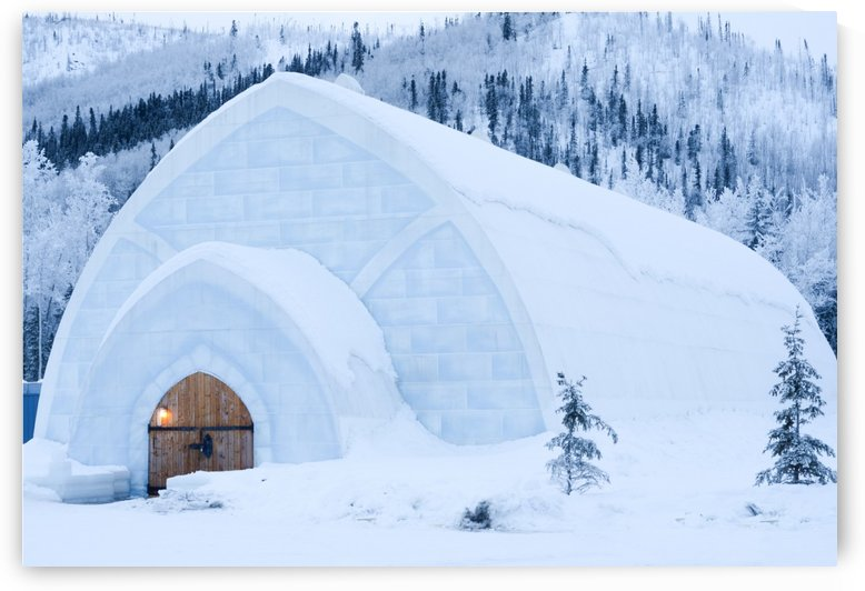 THE WINTER BARN by OPTIC CANVAS