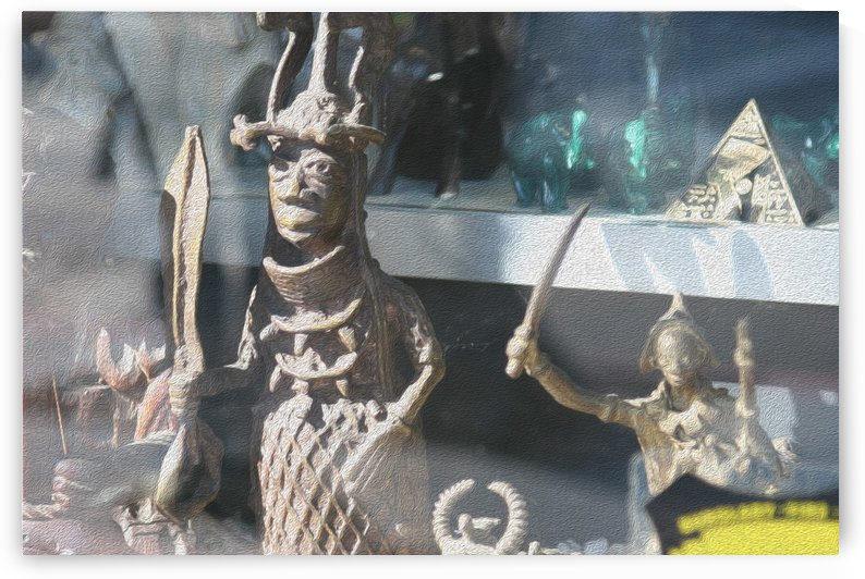 African Statue in Window by Hold Still Photography
