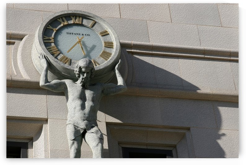 Man Holding Tiffany Clock by Hold Still Photography