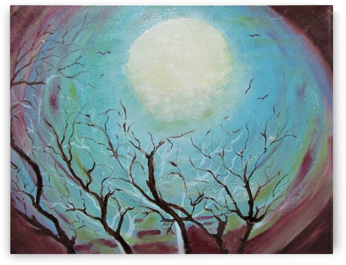 Full moon by ciobanu c veronica