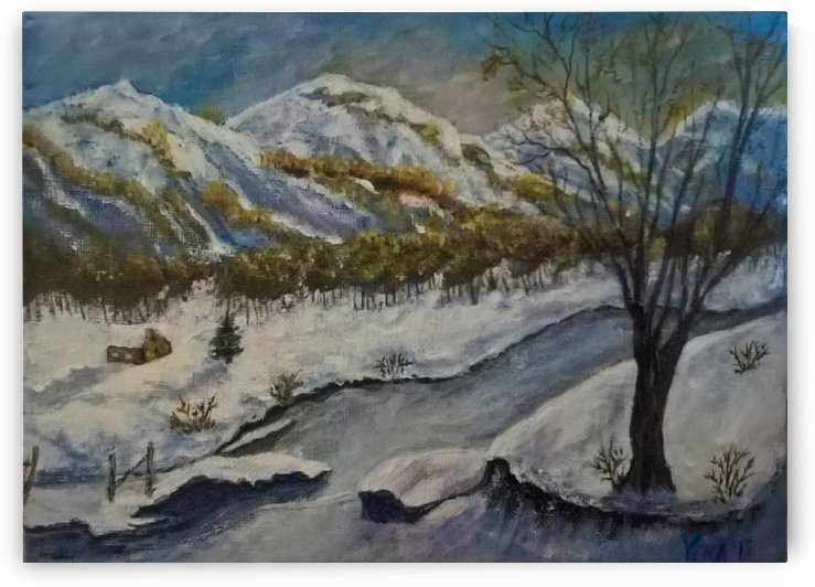 winter in the mountains by ciobanu c veronica