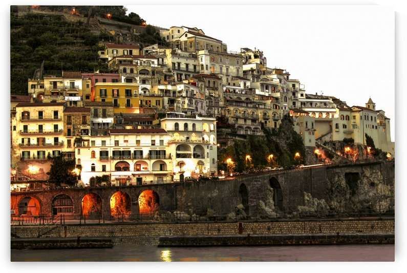 Amalfi Village  Landscape - Italy by Bentivoglio Photography