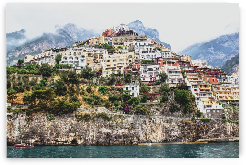 Positano Village Landscape - Italy by Bentivoglio Photography