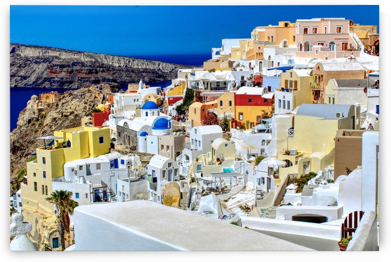 Super Colourful Santorini Landscape by Bentivoglio Photography