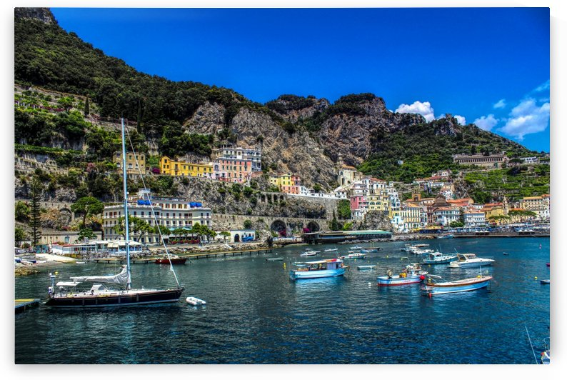 Amalfi Coast Panoramic View by Bentivoglio Photography