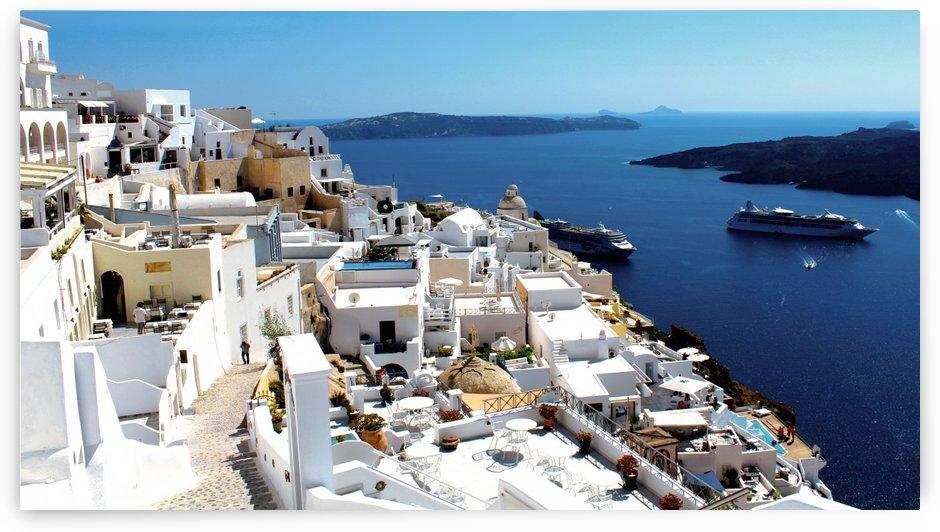 Super panoramic view - Santorini - Greece by Bentivoglio Photography