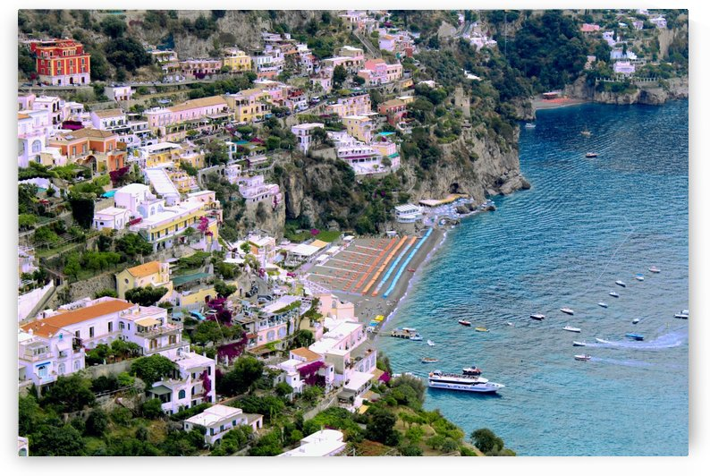 Aerial view of Positano Beach - Italy by Bentivoglio Photography