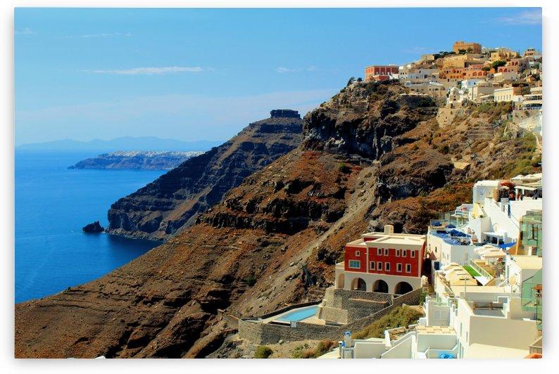 Santorini Mountains Landscape - Greece by Bentivoglio Photography