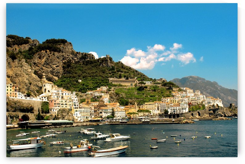 Amalfi Town - Panoramic View - Italy by Bentivoglio Photography