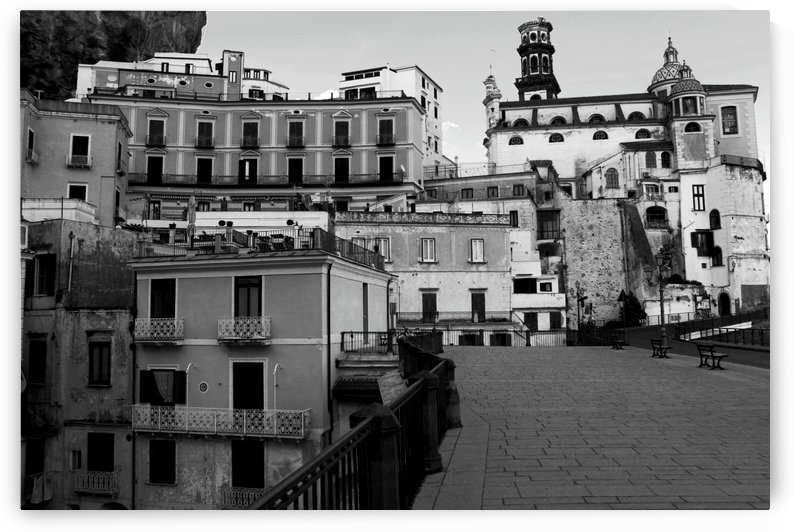 Atrani Village Black and White - Amalfi Coast - Italy by Bentivoglio Photography