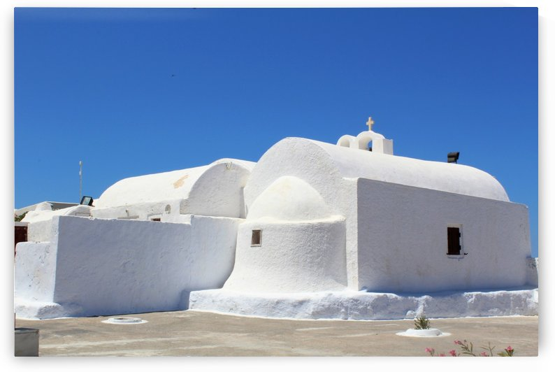 White Church -Santorini Island -  Greece by Bentivoglio Photography