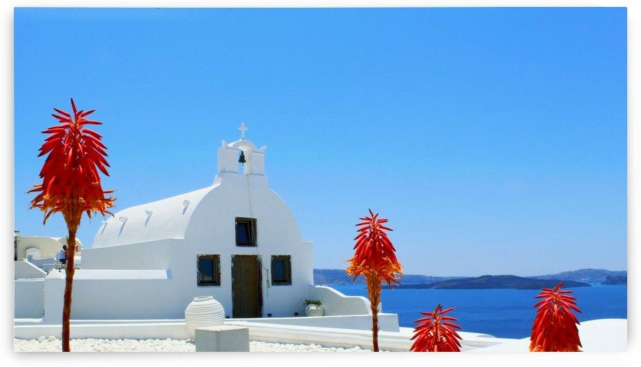 Santorini Island Landscape - Greece by Bentivoglio Photography