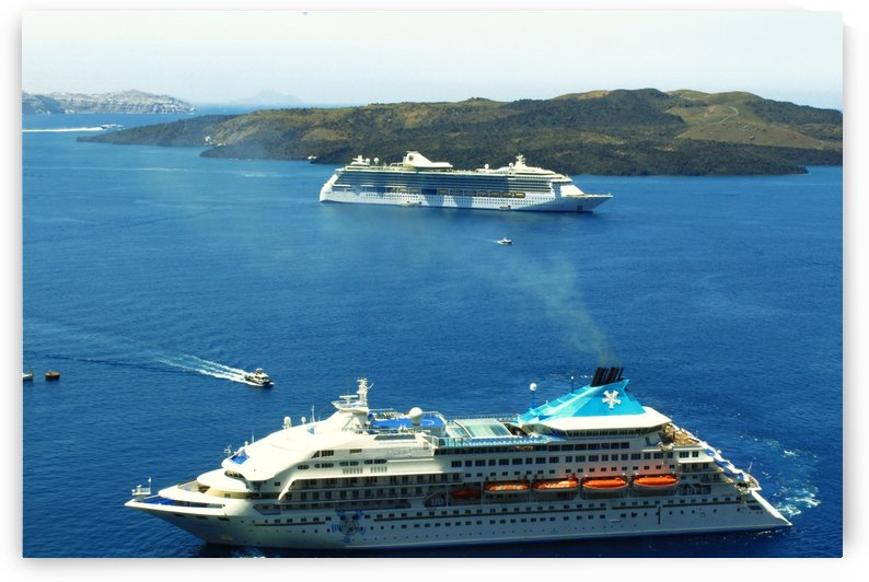 The Cruise Ship in the Blue Ocean by Bentivoglio Photography