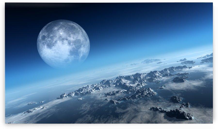 Earth icy ocean aerial view by Johan Swanepoel