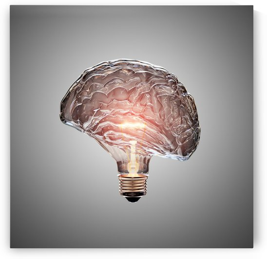 Light Bulb Brain by Johan Swanepoel