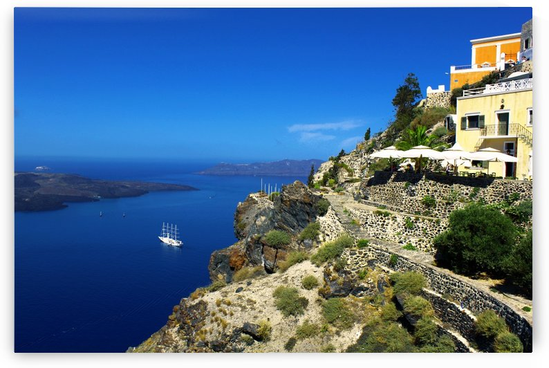 Santorini Beautiful Landscape - Greece by Bentivoglio Photography