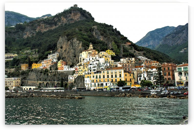 Italian Village Landscape - Amalfi by Bentivoglio Photography