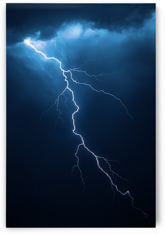 Lightning with dramatic cloudscape by Johan Swanepoel