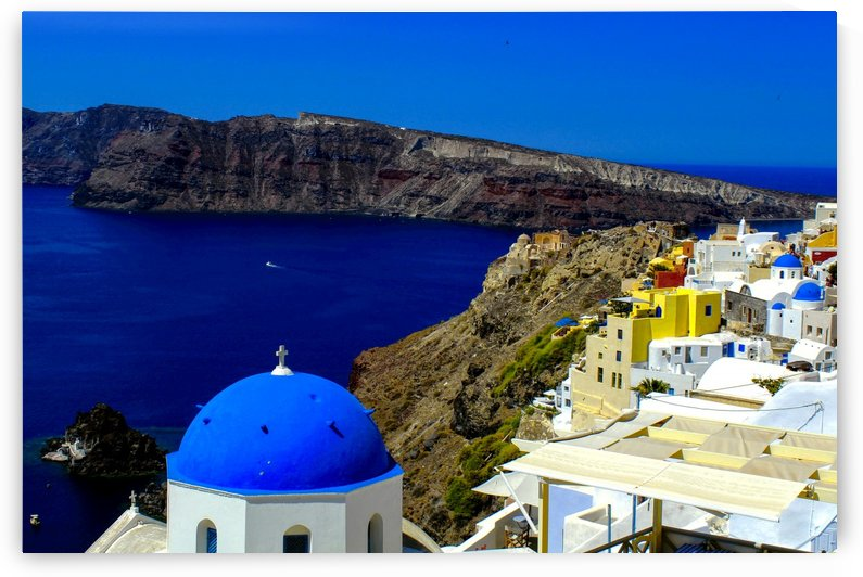 Santorini  - Super Colorful Landscape by Bentivoglio Photography