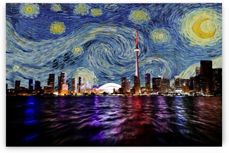 Starry Night Toronto Canada by David Dehner