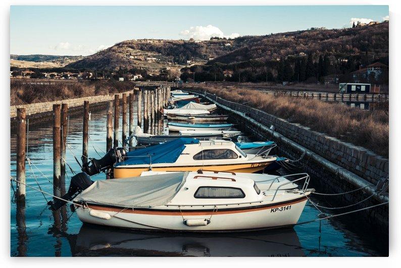 Docked Boats by Ales Ljoljo