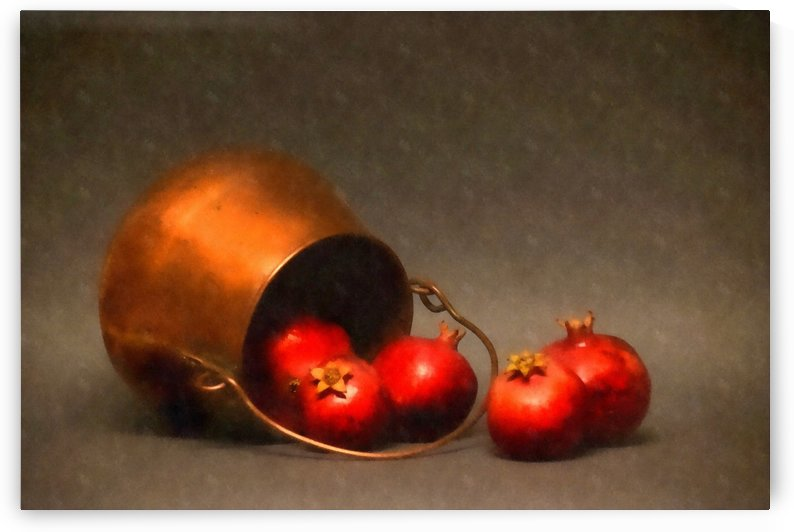 Copper Pot and Pomegranates by Frank Wilson