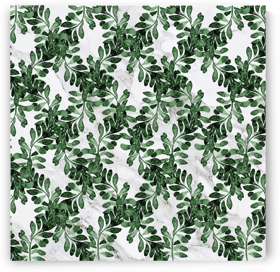 green leaves on marble by cadinera
