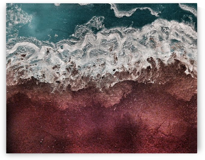 Lowtide Seascape Beach Minimalist Abstract Artwork by Christine.The.Artist