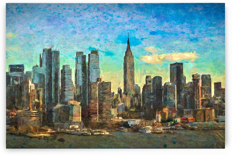 New York Skyline by Jacqueline Sleter