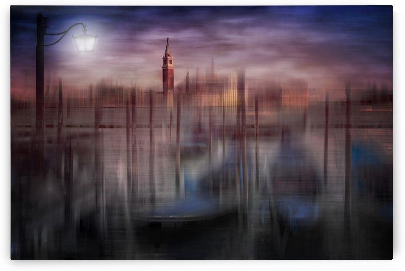City-Art VENICE Gondolas at Sunset by Melanie Viola