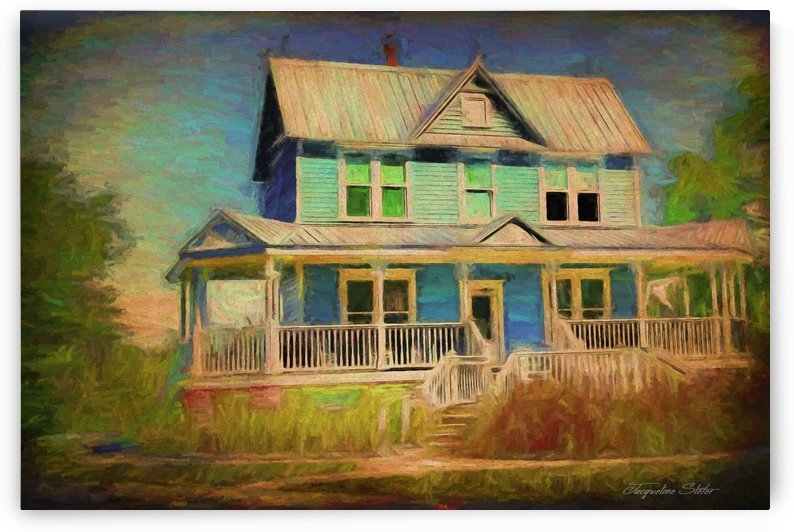 Valentine House Oil by Jacqueline Sleter