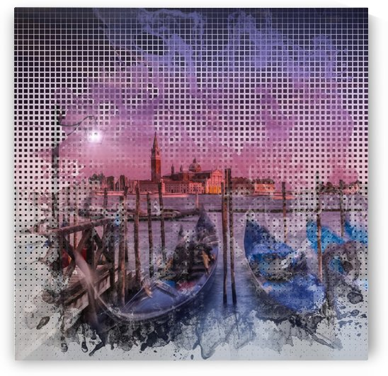 Graphic Art VENICE Gorgeous Sunset by Melanie Viola