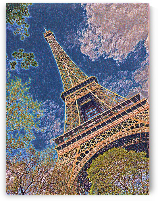 Eiffel Tower- Abstract by Jessica Toth